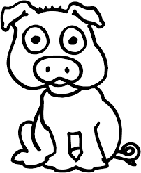 pig coloring animals town animals color sheet pig