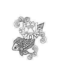 koi fish and lotus flower tattoo free design ideas
