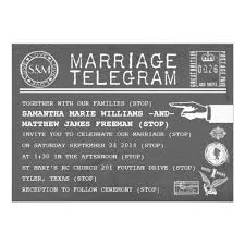 Telegram Wedding Invitation Vintage Telegram Wedding Invitations Wedding Pinterest