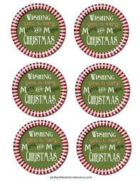 m u0026m u0027s christmas gift label pink polka dot creations