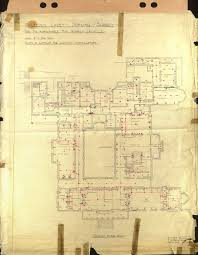polesden lacey electrical plan 1935 ground floor 933 1200