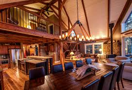 Small Post And Beam Homes The Barn House Loft At Moose Ridge Lodge Barn Lofts And Ceilings