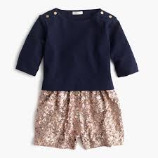 Gold Sequin Cardigan Girls U0027 Sequin Sweater Romper Jumpsuits U0026 Rompers J Crew