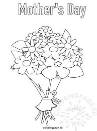 mother u0027s day bouquet flowers coloring page