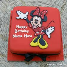 minnie mouse birthday cakes mouse birthday cakes with photo and name