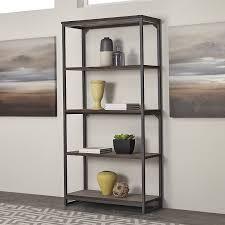 Overstock Bakers Rack Amazon Com Home Styles 5053 76 Barnside Metro 5 Tier Shelf Gray