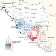 Map Of Sierra Leone Of Emerging Ebola Infections Could Be Aided By New Monitoring Method
