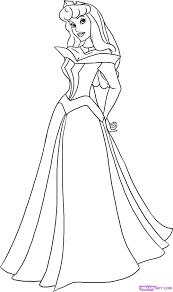 how to draw sleeping beauty princess aurora step 5 tekenen