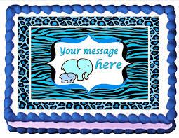 amazon com edible cake topper cupcake topper baby shower blue