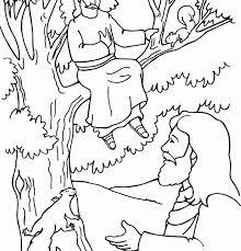 zacchaeus and jesus coloring page zacchaeus and jesus coloring
