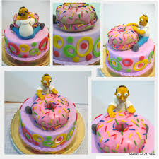 doughnut cake with homer veena azmanov