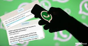 if you get a 250 tesco or asda voucher message on whatsapp ignore