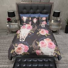 Free Bed Sets And Free Pink Buffalo Skull Duvet Bedding Sets Ink And