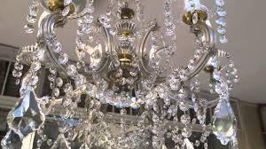 Swarovski Crystals Chandelier Maria Theresa Swarovski Crystal Chandelier Youtube
