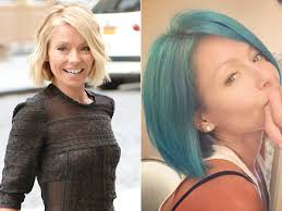 kelly ripa hair 2015 kelly ripa has blue hair see her bold new hair shade fashion