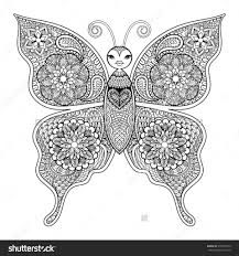 coloring pages butterfly flower border by mia throughout of