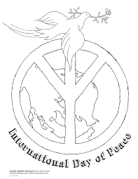 international day of peace coloring page dia de la pau
