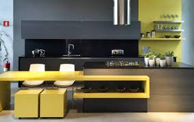 Yellow Cabinets Kitchen Kitchen Black And Yellow Kitchen Theme Yellow Kitchens With Dark