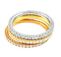 diamond eternity rings images Tri color diamond eternity ring set european jewelry jpg