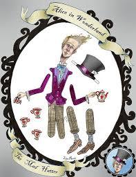 Alice Wonderland Paper Dolls Mad Hatter Paper Dolls