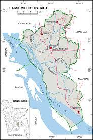 Map Of Bangladesh Lakshmipur District Upazila Wise Mouza Maps U0026 Information