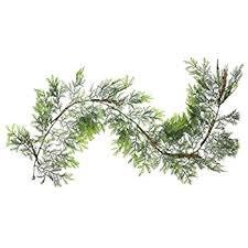 fresh garland made of balsam and white pine
