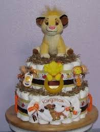 animal print diaper cake for either boy or diaper cakes