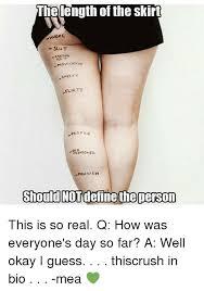 Provocative Memes - the length of the skirt vihore slut provocative cheeky flirty proper