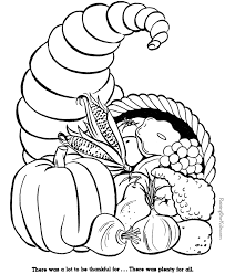 free printable coloring pages printable cornucopia coloring