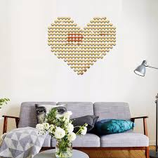 mirror wall stickers hearts promotion shop for promotional mirror 100pcs lot 2cm 3d diy acrylic mirror wall sticker heart round shape stickers decal mosaic mirror effect livingroom home decor