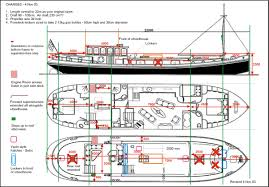 Houseboat Floor Plans by Diagram Of Kei Design Boats Pinterest Boating Dutch Barge