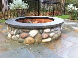 Backyard Firepit Ideas Best 25 Rock Fire Pits Ideas On Pinterest Backyard Pool
