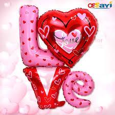 big valentines day big size 80 90cm wedding foil ballons letter foil
