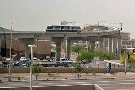 light rail to sky harbor phoenix airport to commuter train connection