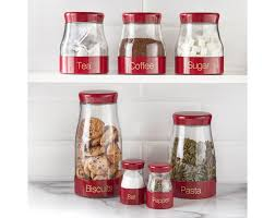 Glass Kitchen Canister by 100 Red Kitchen Canister Sets Bread Bins U0026 Storage Jars