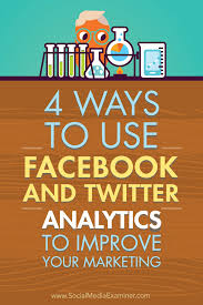 4 ways to use facebook and twitter analytics to improve your