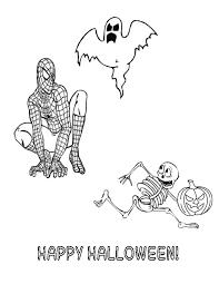 spiderman halloween ghoul skeleton coloring u0026