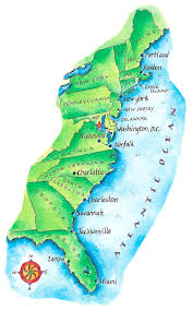 map of east coast states map of east coast digital by thermes