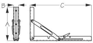Stainless Steel Folding Table Stainless Steel Bracket Folding Table Heavy Duty Sea 221355