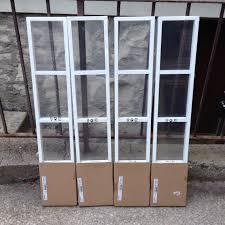 4 new white ikea lerberg metal wall mount cd dvd media storage