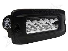 Flush Mount Led Lights Sr Q2 Wide Pair Flush Amber Black Rigid Industries