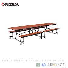 stainless steel folding table china orizeal used cafetria mobile folding table with