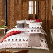 housse de couette montagne chalet parure de lit olivier desforges slalom blanc linge de lit haut