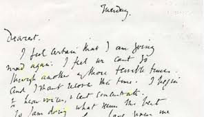 virginia woolf u0027s handwritten note a painful and poignant