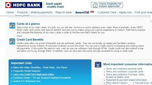 hdfc bank online credit card status track online application