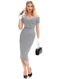 houndstooth dress rhonda s vintage houndstooth 50s pencil dress retro