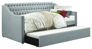tulney daybed with trundle fabric daybeds by homelegancela inc