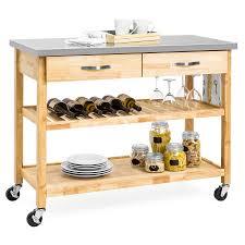 kitchen island stainless kitchen island utility cart w stainless steel countertop