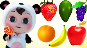 learn colors for children toddlers and learn fruits colors for