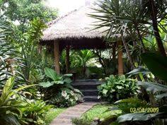 Balinese Garden Design Ideas Towering Bamboo Forms Sheltered Arcades Above The Boardwalk